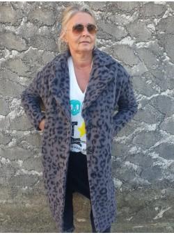 manteau leo gris wiya by banditas Manteaux vetement et accessoires femme