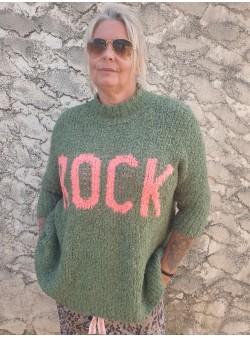 pull rock kaki banditas Nouveautés vetement et accessoires femme