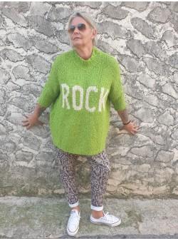 pull rock vert pomme banditas Nouveautés vetement et accessoires femme