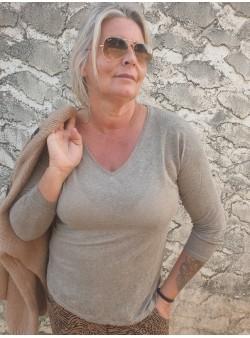 teeshirt ancona taupe banditas Nouveautés vetement et accessoires femme