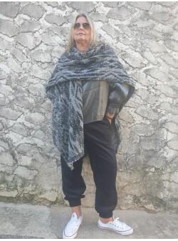 poncho lama black banditas Vestes vetement et accessoires femme