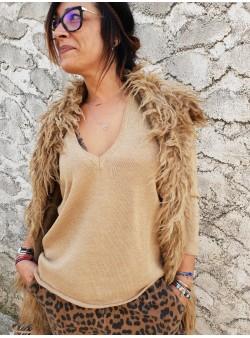 Gilet Madame Chantal B - Camel Vestes vetement et accessoires femme